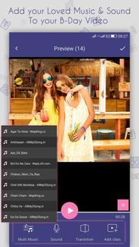 Happy Birthday Movie Maker apk screenshot