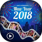 Happy New Year Video Maker - Music Slideshow Maker icon