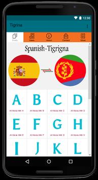 Spanish-Tigrigna Dictionary App For Free Use poster