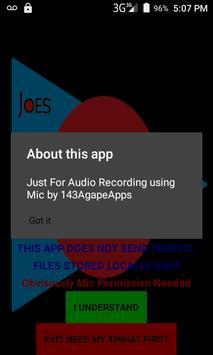 Joe's Recorder (Audio) screenshot 1