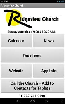 Ridgeview Church Companion poster