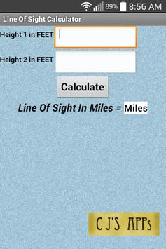 Line Of Sight Calculator poster