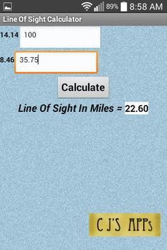 Line Of Sight Calculator apk screenshot