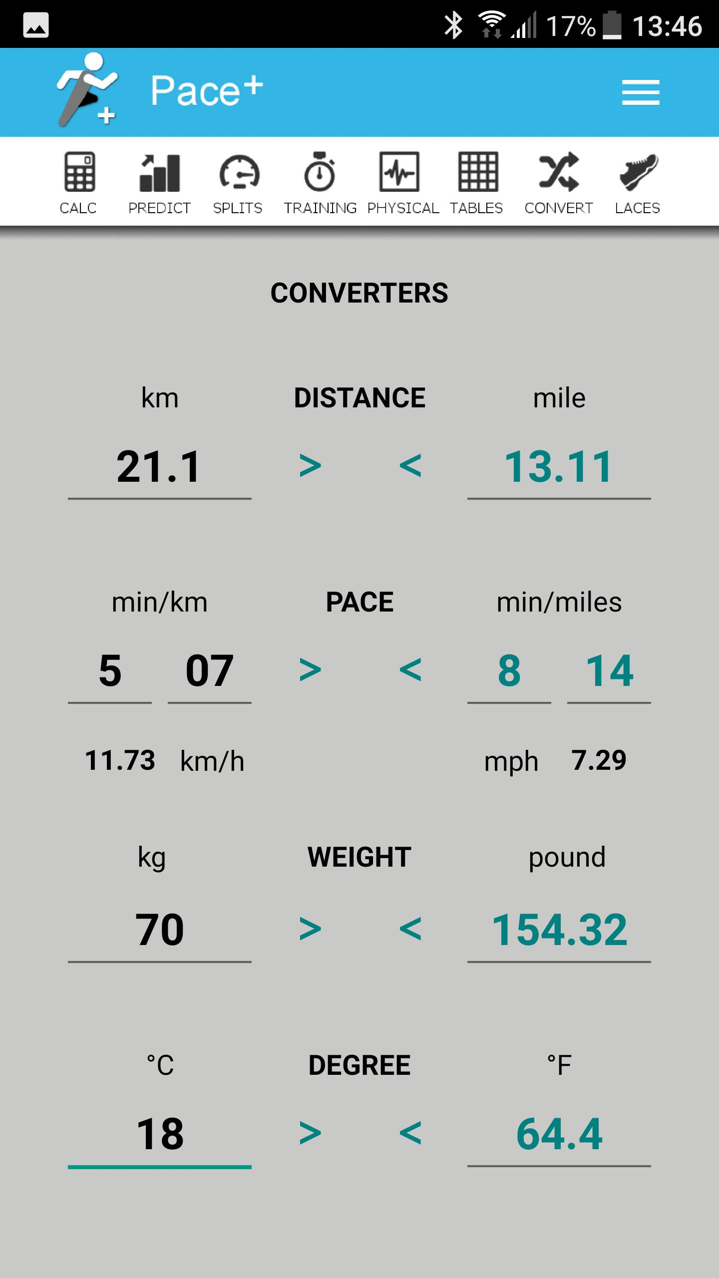 Pace Calculator [Pace+] for Android - APK Download