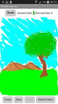 Simple Paint Canvas poster