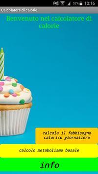 Calcolo fabbisogno calorico poster
