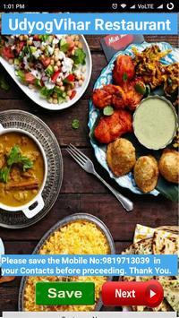 UdyogVihar Restaurant App poster
