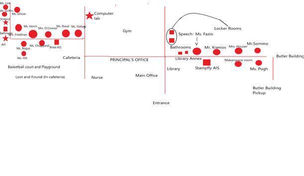 Vernon School Virtual Map poster