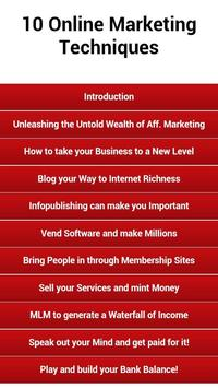 Online Marketing Techniques poster