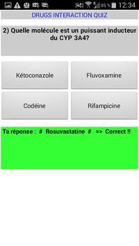 Drugs Interaction Quiz apk screenshot