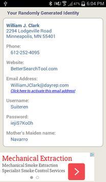 Fake Name Generator apk screenshot