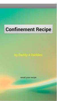 Confinement Food Recipe poster