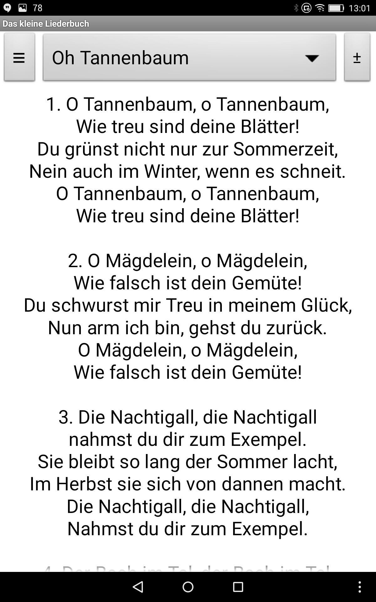 Oh Tannenbaum Originaltext.Das Kleine Liederbuch For Android Apk Download