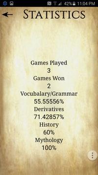 Vinces Latin Certamen Game apk screenshot