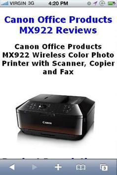 MX922 Color Printer Reviews poster