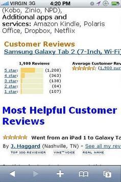 Galaxy Tab 2 Reviews apk screenshot