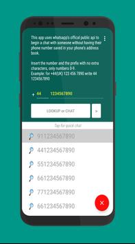Open with WhatsApp - WhatsLookup apk screenshot