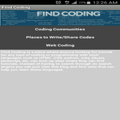 Find Coding icon