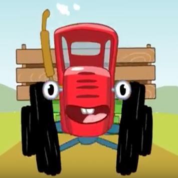 Песни для детей - Трактор - Мультик про машинки poster