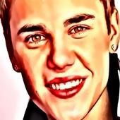 Floating Justin Bieber icon