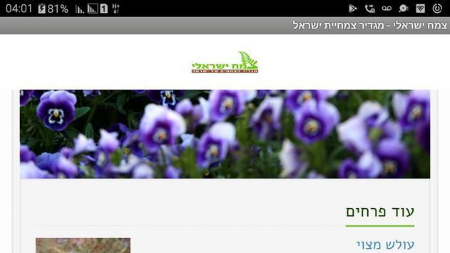 צמח ישראלי poster