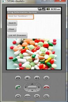 DRUG INFORMATION SYSTEM apk screenshot