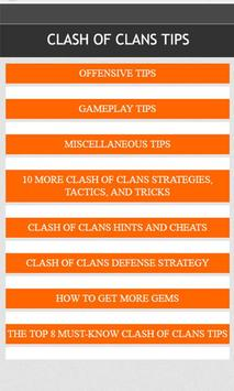 Fanmade clash of clans guide poster