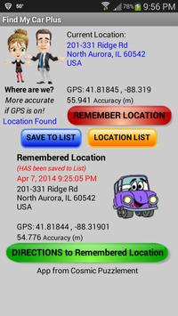 Find My Car PLUS poster