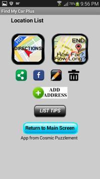 Find My Car PLUS screenshot 1