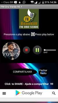 FM Oro Verde 90.1 poster