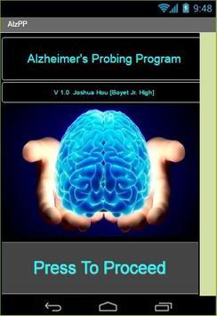 Alzheimer's Probing Program poster
