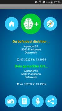 Merkr GPS Standort merken Free apk screenshot