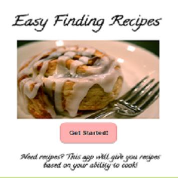 Easy Find Recipes poster