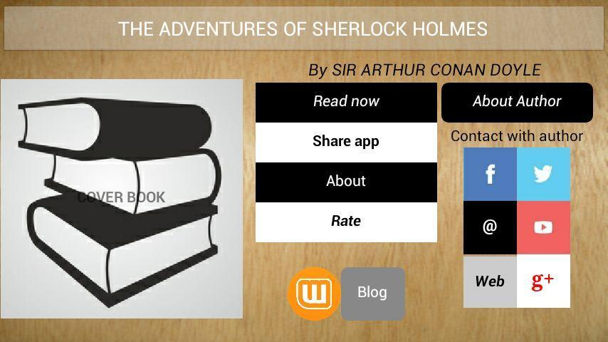 Book App:Sherlock Holmes poster