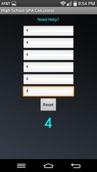 High School GPA Calculator apk screenshot