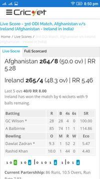 Live Score IPL T20 ODI Test apk screenshot