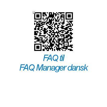 FAQ Manager Dansk apk screenshot