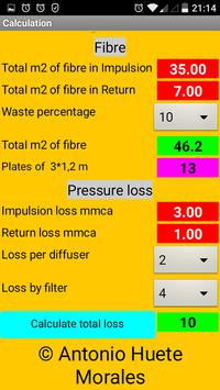 Calculation of Air Ducts apk screenshot