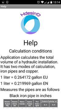 Volume of Water in Pipes apk screenshot
