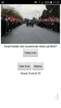 Orienteringsaften Quiz NAG '16 poster