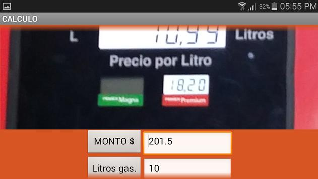AHORRA GASOLINA apk screenshot
