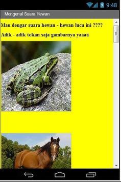 Mengenal Hewan  bagi Anak poster