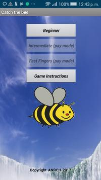 Catch the bee (free) poster