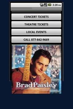 Brad Paisly Tickets poster