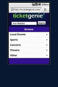 Brad Paisly Tickets screenshot 1