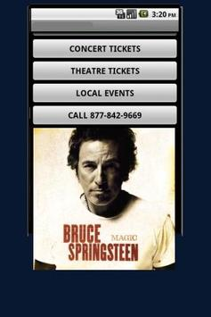 Bruce Springsteen Tickets poster
