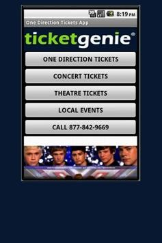 One Direction Tickets poster
