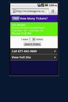 One Direction Tickets apk screenshot