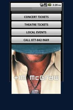 Tim McGraw Tickets poster