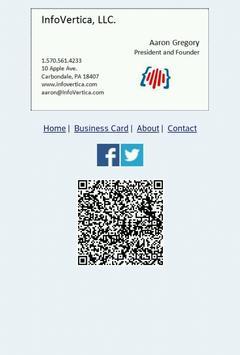 InfoVertica Business Card App poster